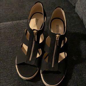 Michael kors ladies wedge heels size 9
